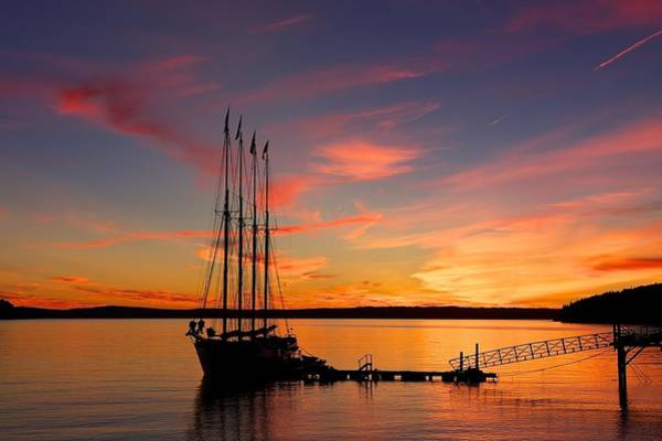 Photograph - Schooner Sunrise by Stuart Litoff