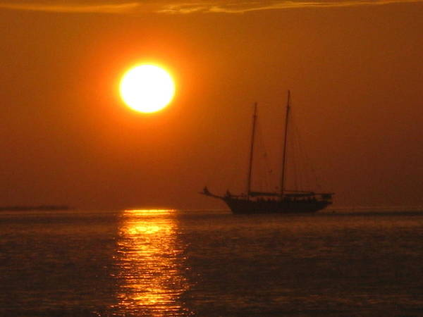 Photograph - Schooner Sunset by Barbara Von Pagel