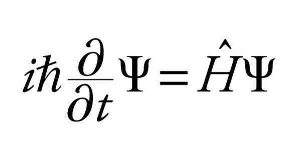 Equation Wall Art - Photograph - Schrodinger Wave Equation by Science Photo Library