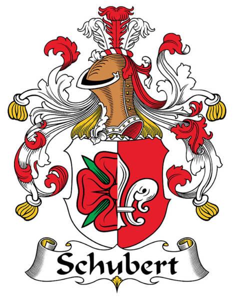 Schubert Coat Of Arms German Art Print