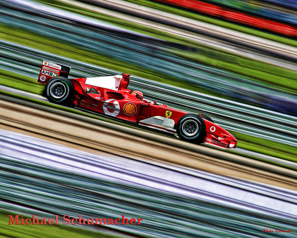 Photograph - Schumacher Guard Rail Blur by Blake Richards