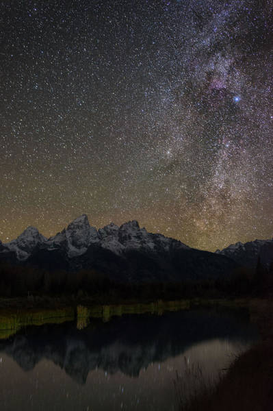 Schwabacher Photograph - Schwabacher Nebula Cloud Reflection by Mike Berenson