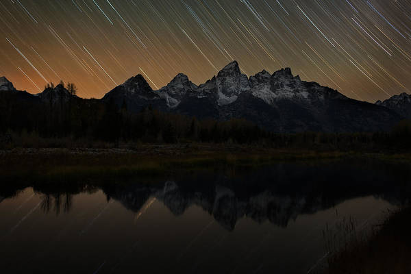 Schwabacher Photograph - Teton Time Shift by Mike Berenson