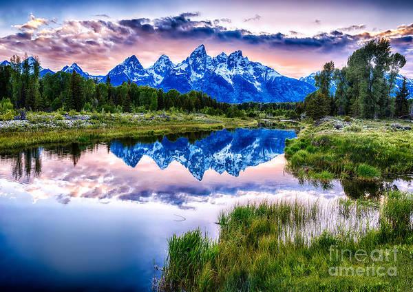 Blue Teton Art Print