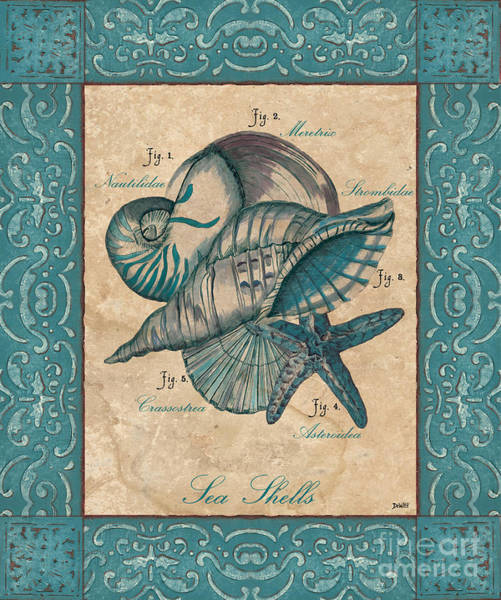 Sealife Painting - Scientific Drawing by Debbie DeWitt