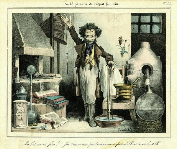 Flammable Photograph - Scientist by Chemical Heritage Foundation/science Photo Library