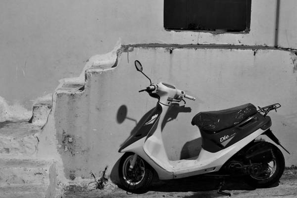 Photograph - Scooter Bw by Ivan Slosar