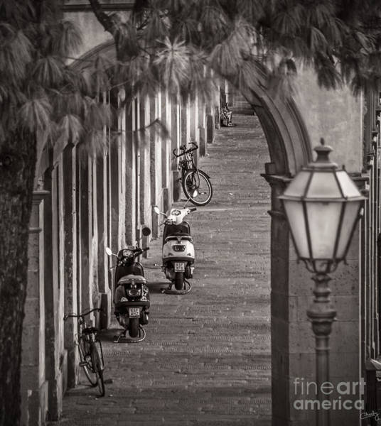 Photograph - Scooters And Bikes by Prints of Italy