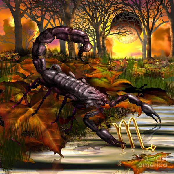 Zodiac Wall Art - Digital Art - Scorpio by MGL Meiklejohn Graphics Licensing
