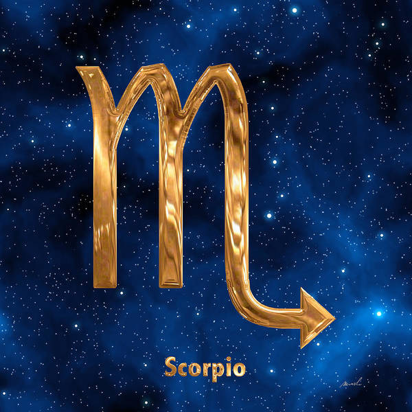 Signs Of The Zodiac Painting - Scorpio by The Art of Marsha Charlebois