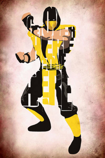Digital Art - Scorpion - Mortal Kombat by Inspirowl Design