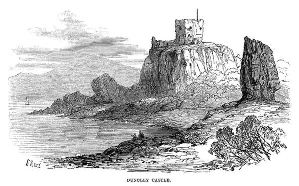 Wall Art - Painting - Scotland Dunollie Castle by Granger