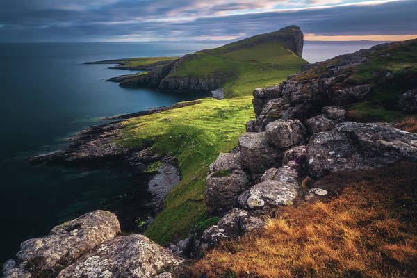 Cliffs Wall Art - Photograph - Scotland - Neist Point by Jean Claude Castor
