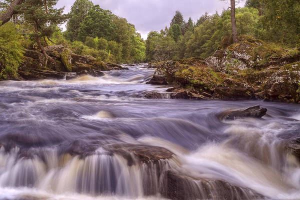 Photograph - Scotland's Falls Of Dochart - Killin Scotland by Jason Politte
