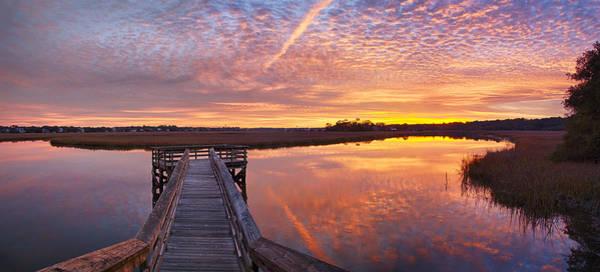 Photograph - Scott Creek Sunset Panorama 04 by Jim Dollar