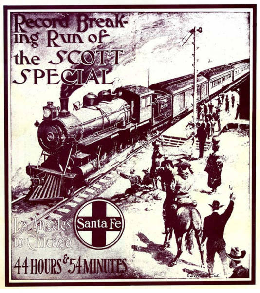 Topeka Wall Art - Photograph - Scott Special Atsf Poster 1905 by Georgia Fowler