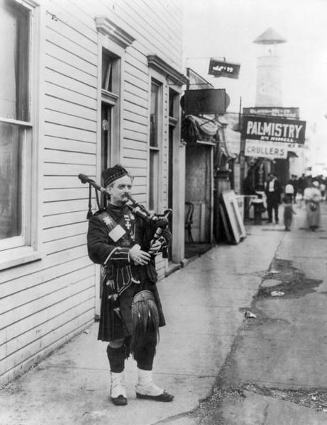 Bagpipe Wall Art - Photograph - Scottish Bagpiper, C1912 by Granger
