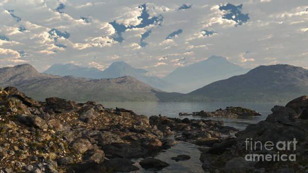 Fairy Pools Digital Art - Scottish Loch Shore by Fairy Fantasies