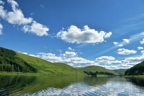 Galloway Wall Art - Photograph - Scottish Rural Scene Of A Loch And Hills by Johnfscott