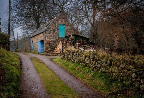 Photograph - Scottish Stone Barn by Brian Grzelewski