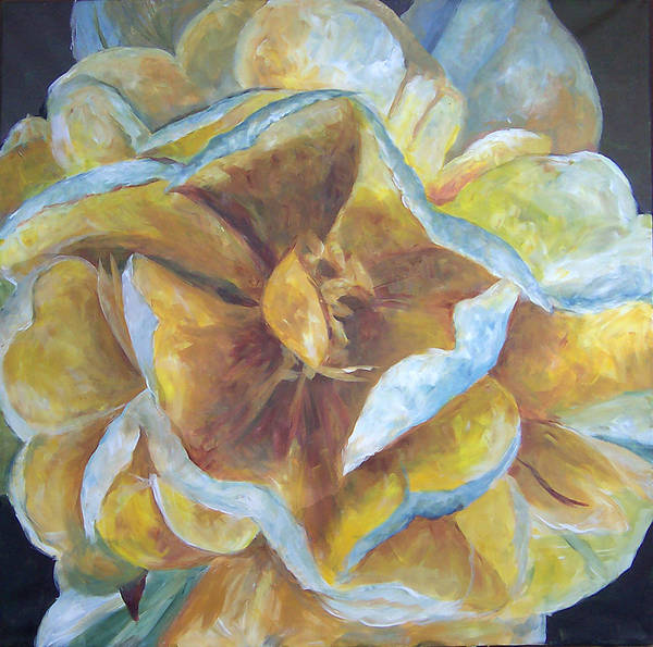 Painting - Scott's Yellow Rose by Susan Moore
