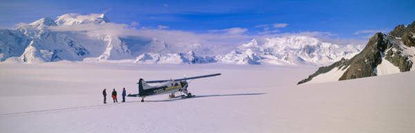 Escarpment Photograph - Scout Bush Airplane, Wrangell-st. Elias by Panoramic Images