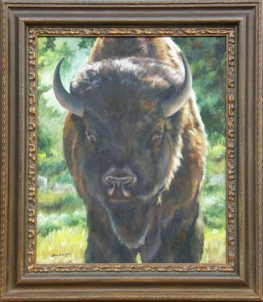 Painting - Scout Framed by Lori Brackett