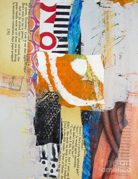 Stripe Mixed Media - Scrambled by Elena Nosyreva
