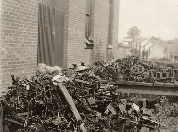 Photograph - Scrap Machinery, 1912 by Granger