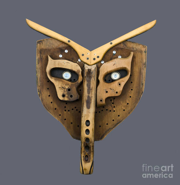 Photograph - Scrap Wood Mask by Bill Thomson