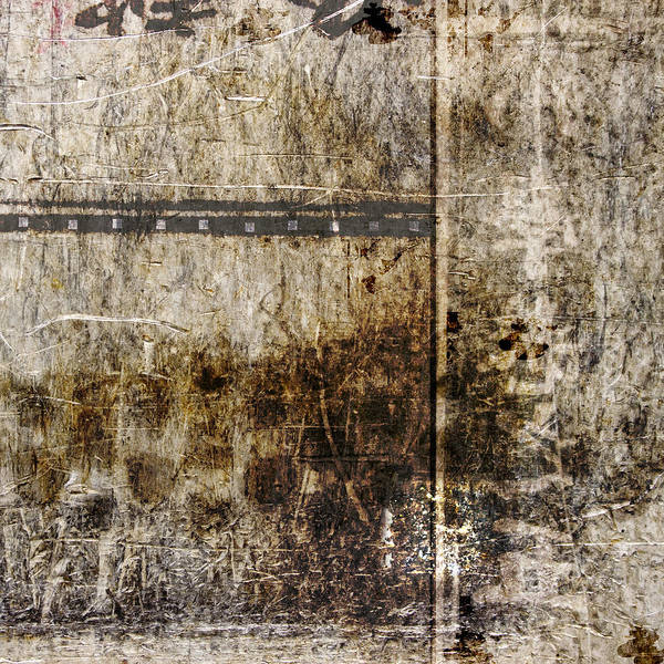 Beige Wall Art - Photograph - Scratched Metal And Old Books Number 2 by Carol Leigh