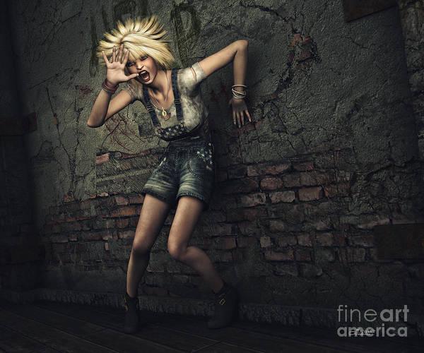 Digital Art - Scream by Jutta Maria Pusl