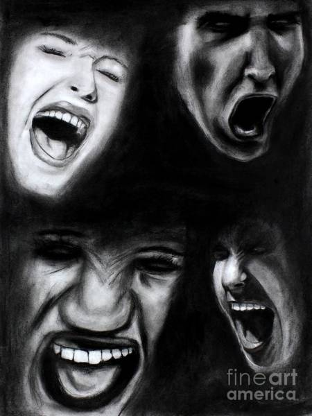 Drawing - Scream by Michael Cross