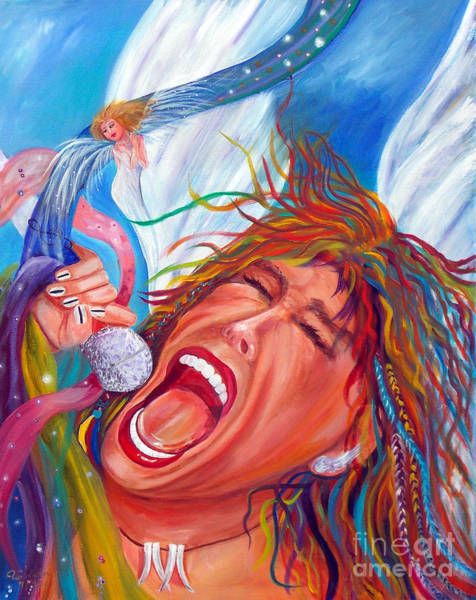 Steven Tyler Painting - Screamin Angel by To-Tam Gerwe
