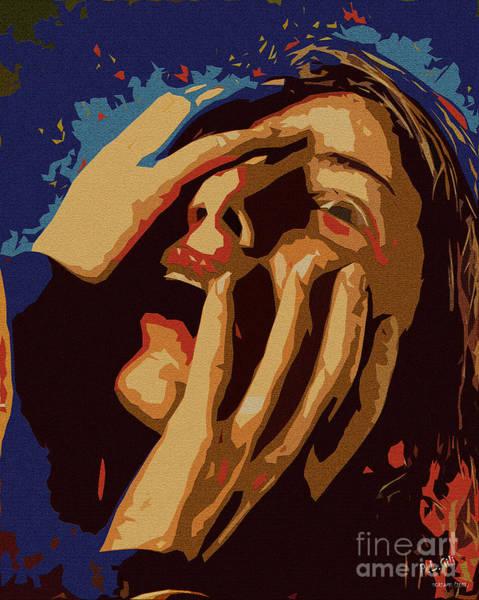 Depressed Digital Art - Screams by Pedro L Gili