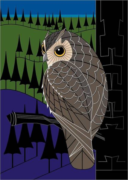 Digital Art - Screech Owl by Marie Sansone