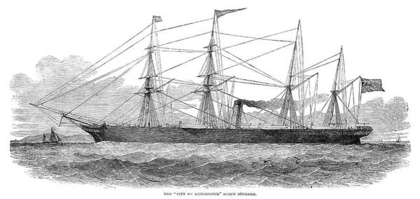 Painting - Screw Steamship, 1851 by Granger
