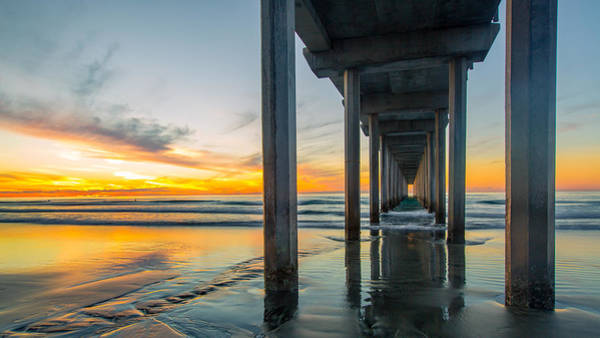 Scripps Pier Photograph - Scripps Pier by Anthony J Wright
