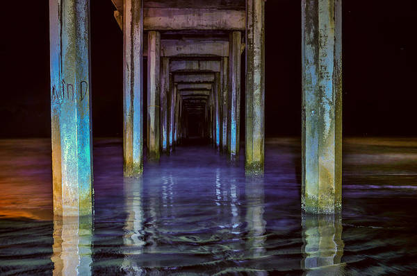 Scripps Pier Photograph - Scripps Pier At Night by Greg Amptman