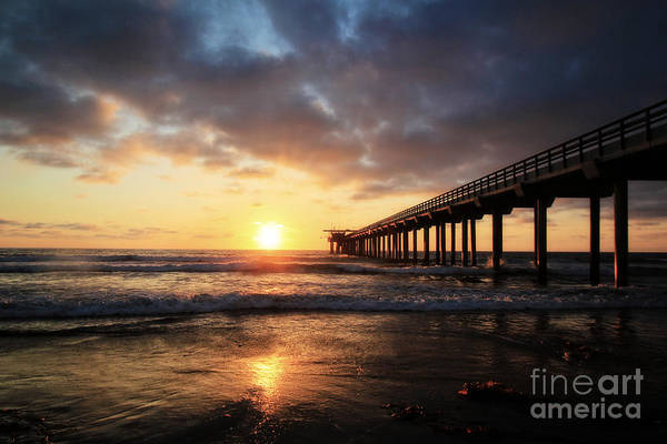 Scripps Pier Photograph - Scripps Pier At Sunset by Kent La Gree