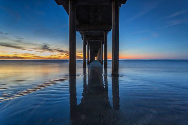 Scripps Pier Photograph - Scripps Pier Blue Hour by Peter Tellone