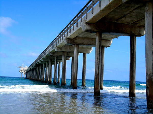 Scripps Pier Photograph - Scripps Pier Left Side by Stephanie Moses