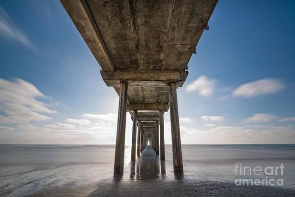 Mv Photograph - Scripps Pier Long Exposure by Michael Ver Sprill