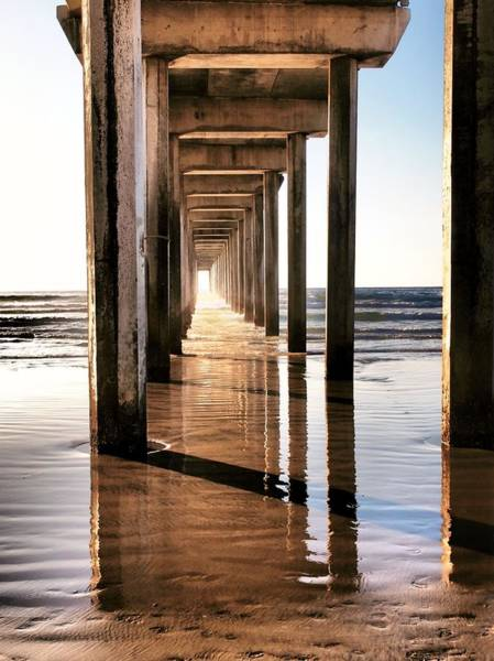 Scripps Pier Photograph - Scripp's Pier Near Sunset by Bill Grolz