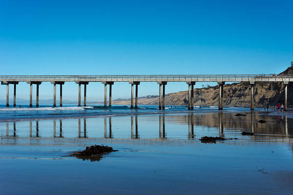 Scripps Pier Photograph - Scripps Pier Reflection by Josh Whisenand