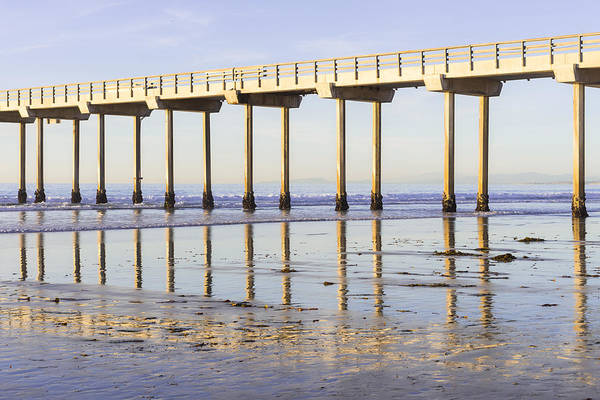 Photograph - Scripps Pier Reflections by Priya Ghose