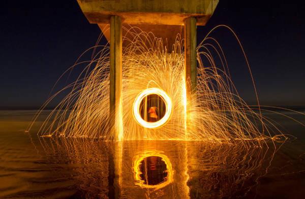 Scripps Pier Photograph - Scripps Pier Spin by Zach Carman