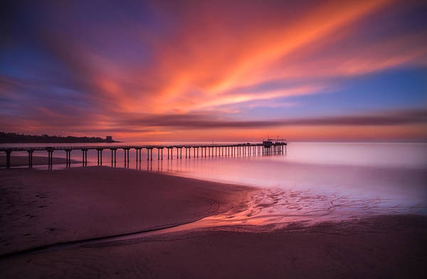 Wall Art - Photograph - Scripps Pier Sunset by Larry Marshall