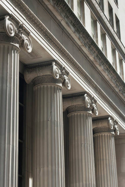 Design Photograph - Scroll Design On The Tops Of Columns On by Keith Levit / Design Pics