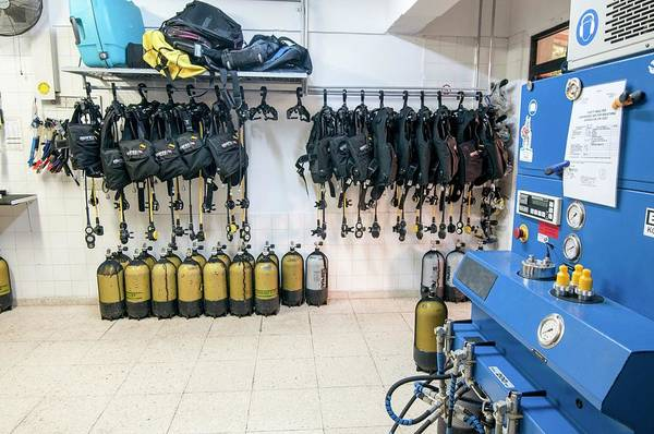 Compressor Photograph - Scuba Diving Club Larnaca by Photostock-israel/science Photo Library